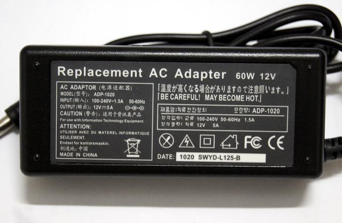 AC100 ~ 240 V para DC 12 V 5A 60 W Cabo de Alimentação Adaptador para LED Stirp Balance changer jack 5.5 * 2.5mm