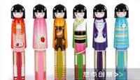 Wholesale Kokeshi Folding Umbrella - HOT sells 100pcs lot Cut Kokeshi Doll Umbrella,Cartoon Folding Umbrella Sun umbrella, umbrella Free shipping