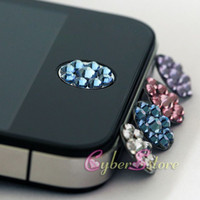 Wholesale 50pcs Crystal Bling Home Button Sticker for iPhone s G Gs