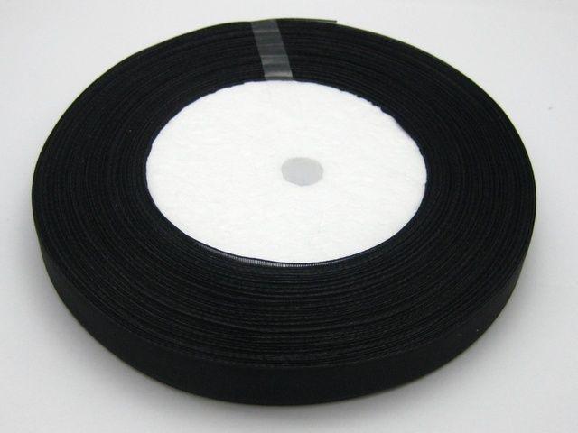 10 rouleaux 1cm couleur noire organza ruban nuptiale Decor bord cadeau bijoux 1 rouleau 50yds