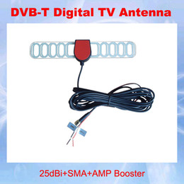 Wholesale Mobile Booster Antenna - Free shipping!!! Digital TV Active Antenna Mobile Car Digital DVB-T Aerial with a Amplifier Booster