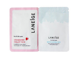 Wholesale Disposable Locks - [HN029]Guaranteed 100% 10bags*6g Laneige Facial Mask Lock water nourishment sleep mask Disposable
