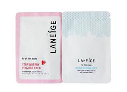 Wholesale Disposable Sheets - [HN029]Guaranteed 100% 10bags*6g Laneige Facial Mask Lock water nourishment sleep mask Disposable