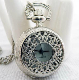 Wholesale Wholesale Skeleton Pocket Watch - (Mixture model) SILVER RHODIUM PLATED MECHANICAL STEAMPUNK SKELETON POCKET FOB locket Pocket Watch