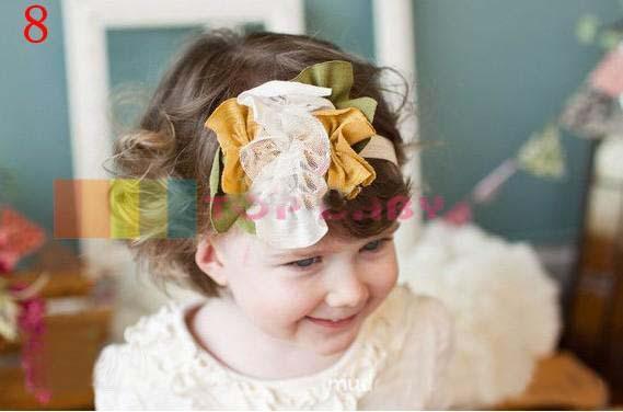 최고의 일치 상단 아기 머리띠 다채로운 꽃 아기 머리 밴드 머리띠 머리 50pcs / lot