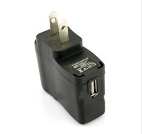 Wholesale Ac Dc Ic - 100pcs  US Plug USB AC DC Power Supply Wall Charger Adapter MP3 MP4 DV Charger Black witi IC protect