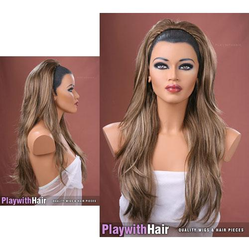 2018 exquisite thick designer 34 wig golden brown mix hair exquisite thick designer 34 wig golden brown mix hair extensions half wig long wigs 10pcslot pmusecretfo Images