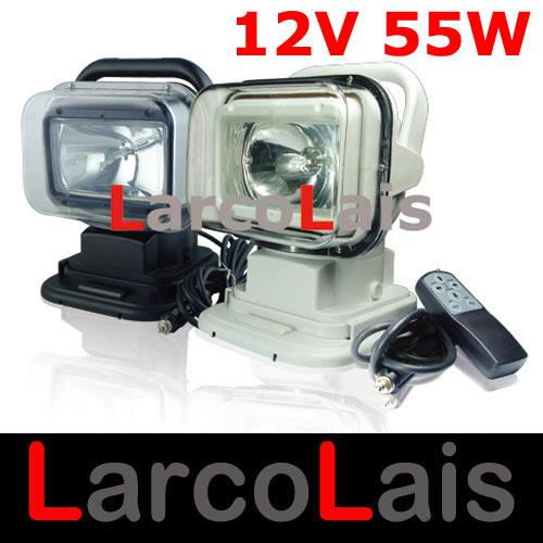 best selling 12V 55W Rotating Wireless Remote Control HID Xenon Search Work Light for Boat Car SUV Camping Hiking