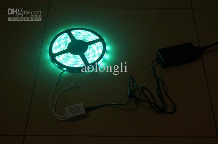 15m Mehrfarben 5050 SMD RGB LED Streifen Licht 5m 150LED wasserdicht 30leds / m + IR-Fernbedienung + Netzteil