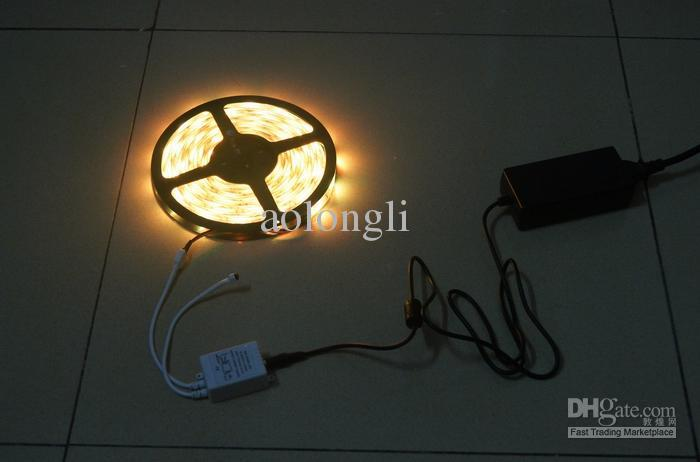 15M Multi-Color 5050 SMD RGB LED Strip Licht 5 m 150LED Waterdichte 30LEDS / M + IR-afstandsbediening + voeding