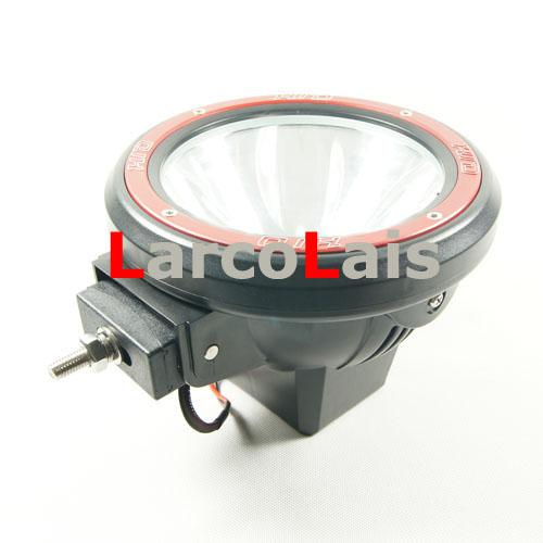 "LarcoLais with Video 12V 55W 7"" HID Xenon Offroad Vehicles Driving Spot Flood lights SUV ATV 4WD 4X4"