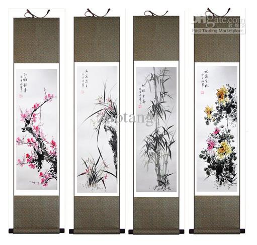 2018 famous chinese silk painting kits decorative art scroll sale