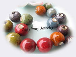 Wholesale Ceramic Loose Beads With Leopard Dot 10mm Mixed Color Free Shipping (100pcs lot)