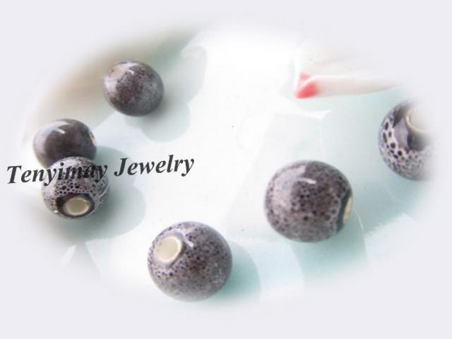 Perlas sueltas de cerámica con el envío libre mezclado del color del leopardo 10m m /