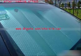 Wholesale Sun Foil - Double layer Window Foils Windshield Sun Shade aluminum foil thickening car sun shade block front window sunshade sun visor