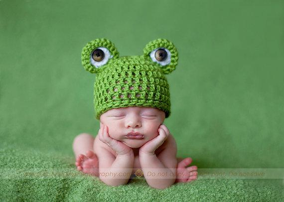 Crochet Frog Hat  3d6fa606e92