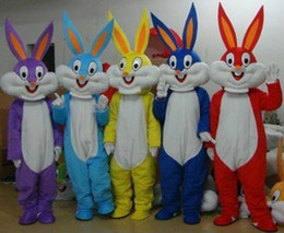 Wholesale Bugs Bunny Christmas - Free Shipping Bugs Bunny Mascot Costume Halloween Christmas Fancy Dress Adult Size factory direct