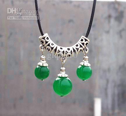 Cordão de couro tibetano prata cristal Ágata Beads borlas pendentes colares Mulheres Moda Jóias 12pc