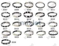 Wholesale Mens Stainless Cuff Bracelets - 21pcs Wholesale Chain Mens Stainless Steel Rubbler Bracelet Bangle Imixlot Bangle cuff Jewelry Free Ship [B307-B326 B358*1]