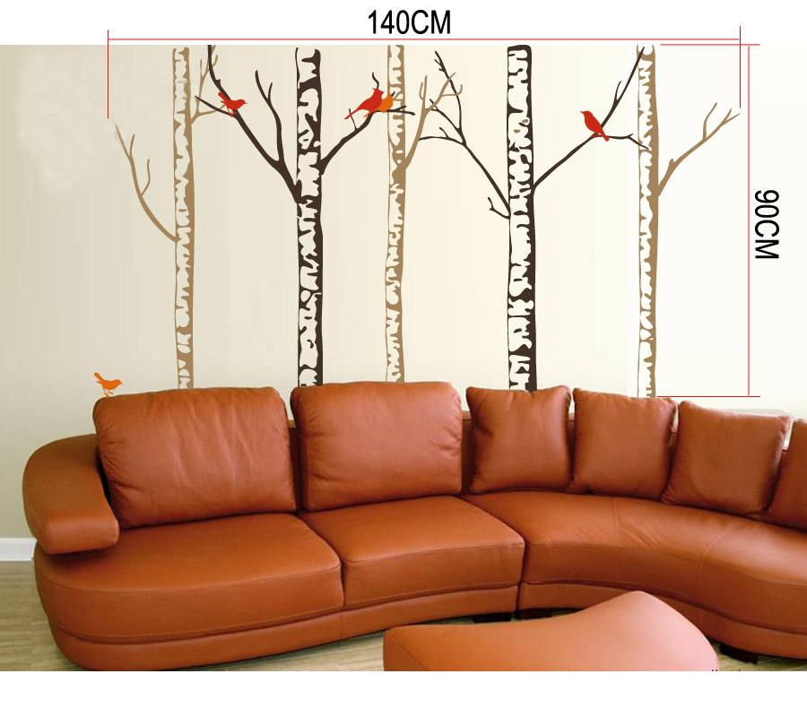 Wall Decal Art jm7070 tree trunk home art wall stickers decorative decor decal