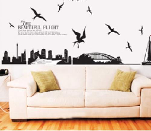 xy 1003 sydney australia skyline city wall stickers decorative decor