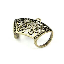 Wholesale Brass Pendant Charms - alloy pendants, scarf rings tube,antique brass color,24pcs lot,PT-507