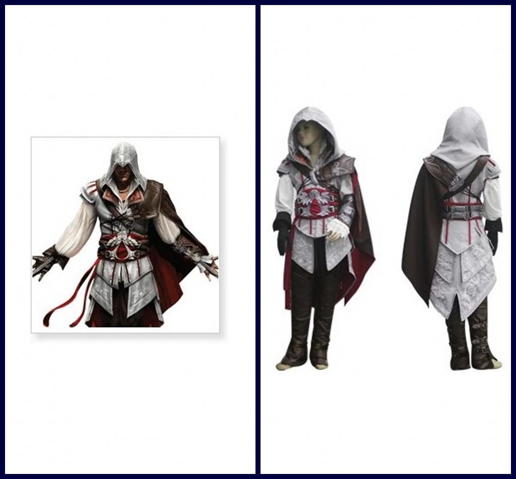 Assassins Creed Cosplay Costume Custom Made Ii Ezio Kids Cheap