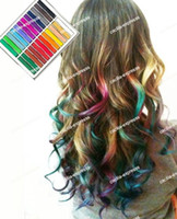 Wholesale Order Hair Chalking - 2012 vogue Temporary Hair Color Dye Pastel Chalk Bug Rub, Mix Order 36pcs Lot get glove free