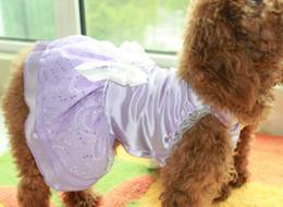 50pcs lots Pet clothing Dress Skirt Clothes Apparel Pet Dog Wedding dress pink, white, purple