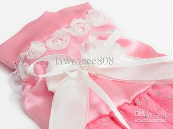 Nouveaux Vêtements pour animaux domestiques Vêtements pour animaux domestiques Vêtements de mariage pour animaux de compagnie Robe de princesse rose, blanc, violet