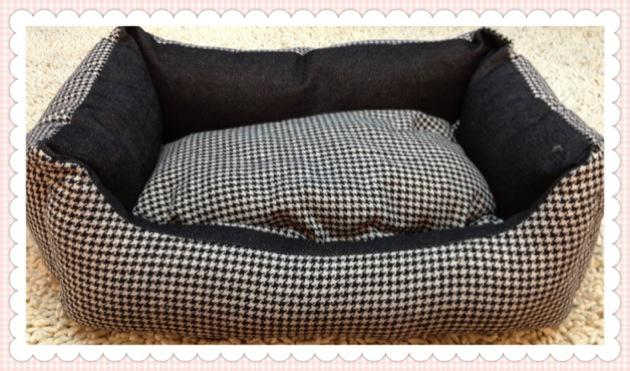 Livraison gratuite, lit de chien blackwhite classique, lit pour animal de compagnie, niche pour chien, lit pour chat, lit pour chiot