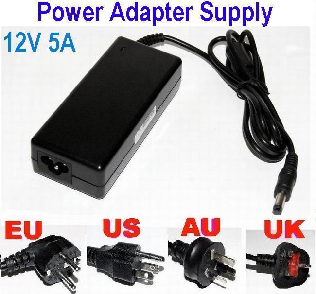 AC100 ~ 240V a DC 12V 5A 60W Cable adaptador de suministro de energía para LED Stirp Balance jack cambiador 5.5 * 2.5mm