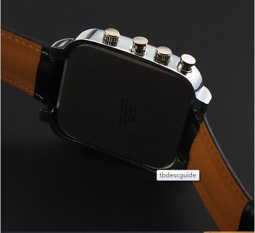 V6 lederne uhr armbanduhr für mann neue mode design geschenk uhr versandkostenfrei