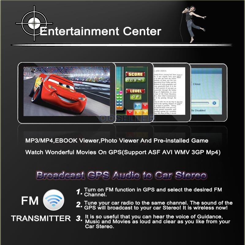 "NEW 7"" HD CAR GPS NAVIGATION 12GB + LED WIRELESS REVERSE CAMERA+Blutooh,AV-IN+2014 3D free map+DHL free"