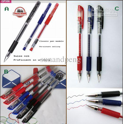 0.5mm red /black/ blue neutral pen gel ink pen 0.5mm