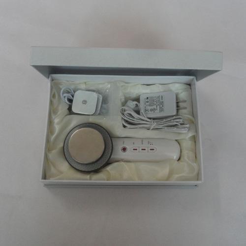 Laatste 3 in 1 elektrode stimulatie ultrasone witte schoonheidsmassager met infrarood lichttherapie