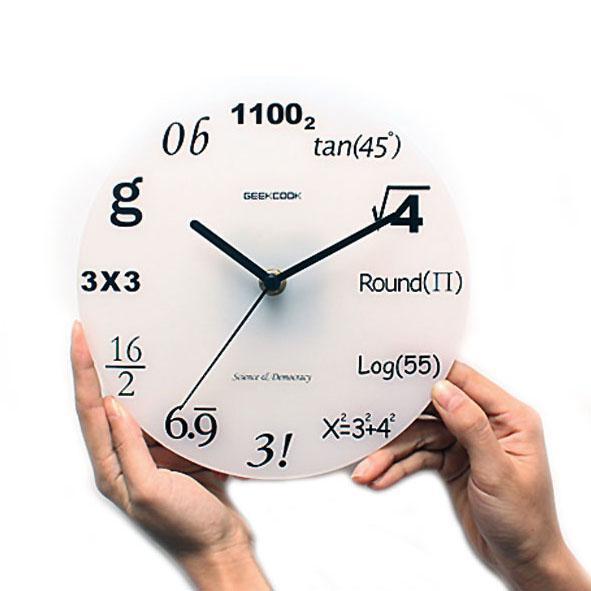 Modern Creative Design Wall Clock Decor Room Quiz Math