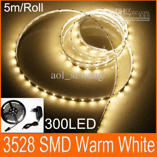 Flexible led strip light warm white smd 3528 300led led flat rope flexible led strip light warm white smd 3528 300led led flat rope light 12v 2a power adapter 10mled strip lights led strips from aolszwang 2264 dhgate mozeypictures Image collections