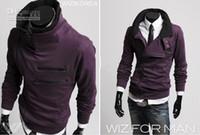 Wholesale Black Jacket Red Zip Mens - 2012 Mens Casual Zip Hoodie Jacket Sweatshirt Sweats & Hoodies size M L XL XXL Purple n