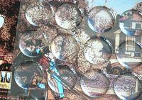 Wholesale 3d art stickers for sale - 5000 clear epoxy sticker inch D crystal Bottle caps sticker