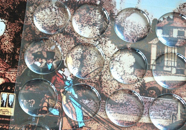 best selling 5000 pcs lot clear epoxy sticker 1 inch 3D crystal Bottle caps sticker