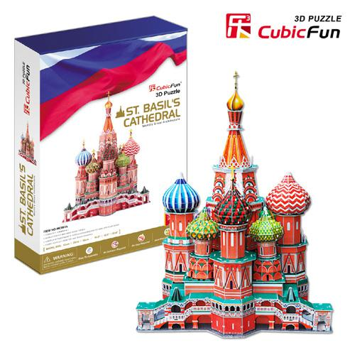 top popular HOT Deluxe 3D Puzzle - Basil's Cathedral Cubic Fun Paper EPS Building Model Big DIY Toys 2021