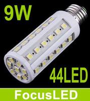 Wholesale E27 44 Smd Led - Warm White 9W E27 Led Corn Light 44 Leds SMD5050 360 Angle Led Bulb Light 85-265V Energy Saving Lamp