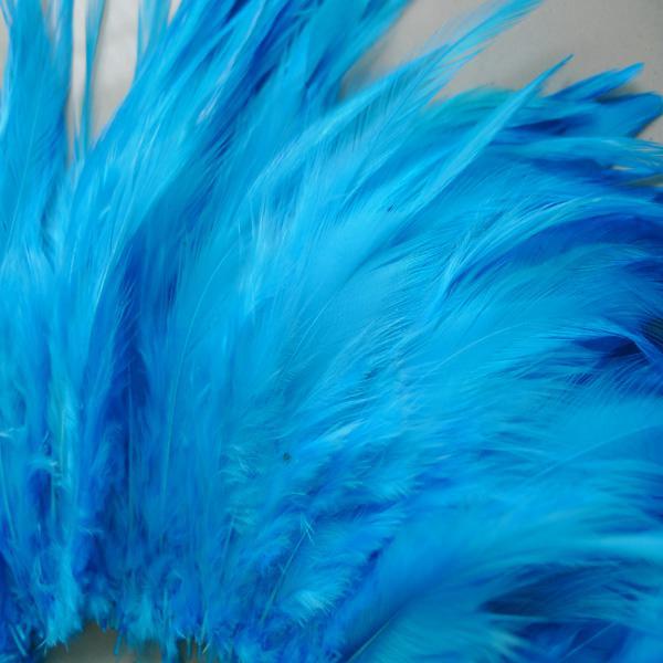 Freies Verschiffen 200 Teile / los Sky Blue Hahn Feder Festliche Hochzeit Leistung Dekoration Feder 4-6 Zoll oder 10-15 CM