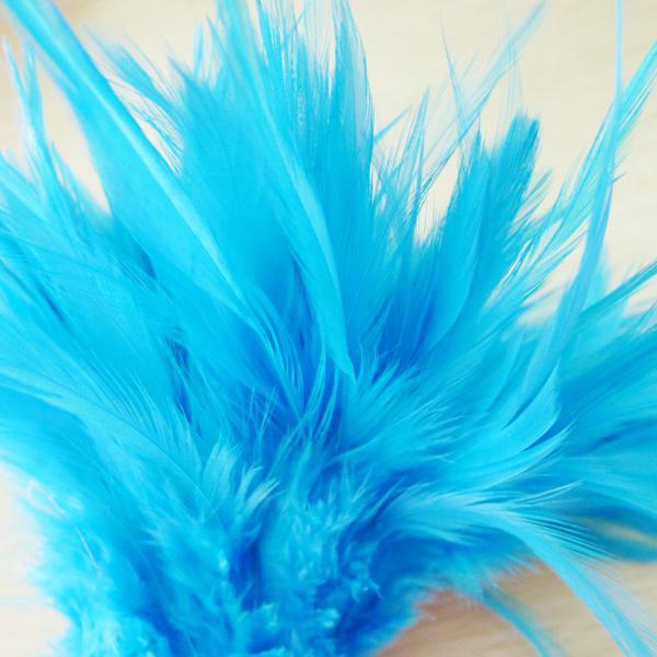 무료 배송 / 하늘색 닭새 깃털 축제 결혼식 파티 공연 장식 깃털 4-6 인치 또는 10-15 CM