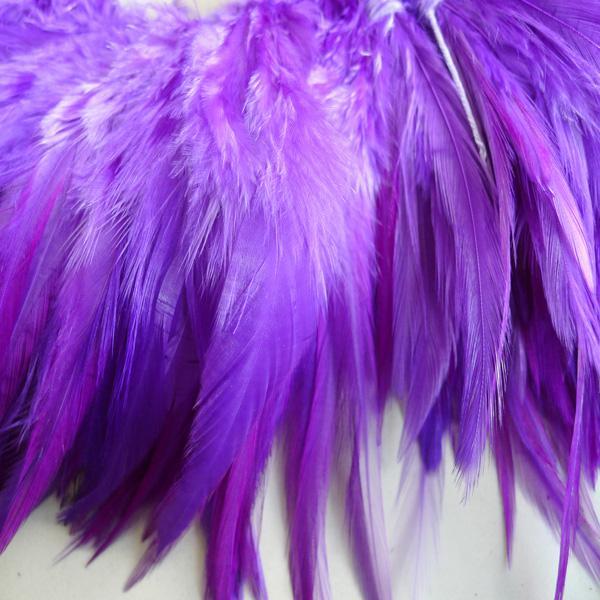 Livraison Gratuite Purple Coq Plume Performance Party De Mariage Plume Diy / Environ 4-6 Pouces ou 10-15 CM