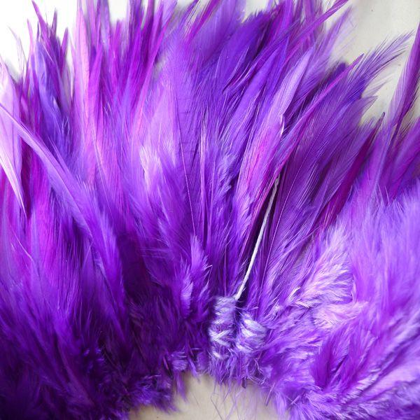 Envío gratis púrpura gallo pluma rendimiento partido boda diy pluma 200 unids / lote aproximadamente 4-6 pulgadas o 10-15 cm