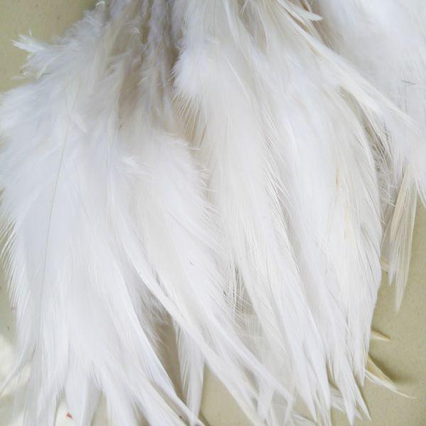 Envío gratis blanco gallo pluma de bricolaje fiesta de bodas rendimiento decoración pluma 200 unids / lote aproximadamente 4-6 pulgadas o 10-15 cm