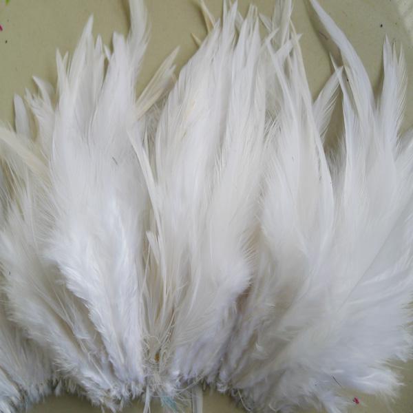 Livraison gratuite blanc coq plume bricolage mariage partie Performance décoration plume / environ 4-6 pouces ou 10-15cm