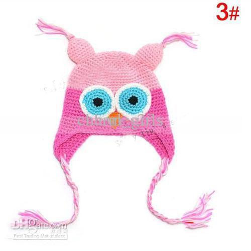 20pcs Handmade Crochet Gorro chapéus Crocheted Hat bebê chapéu coruja do bebê de crochê infantil malha recém-nascido